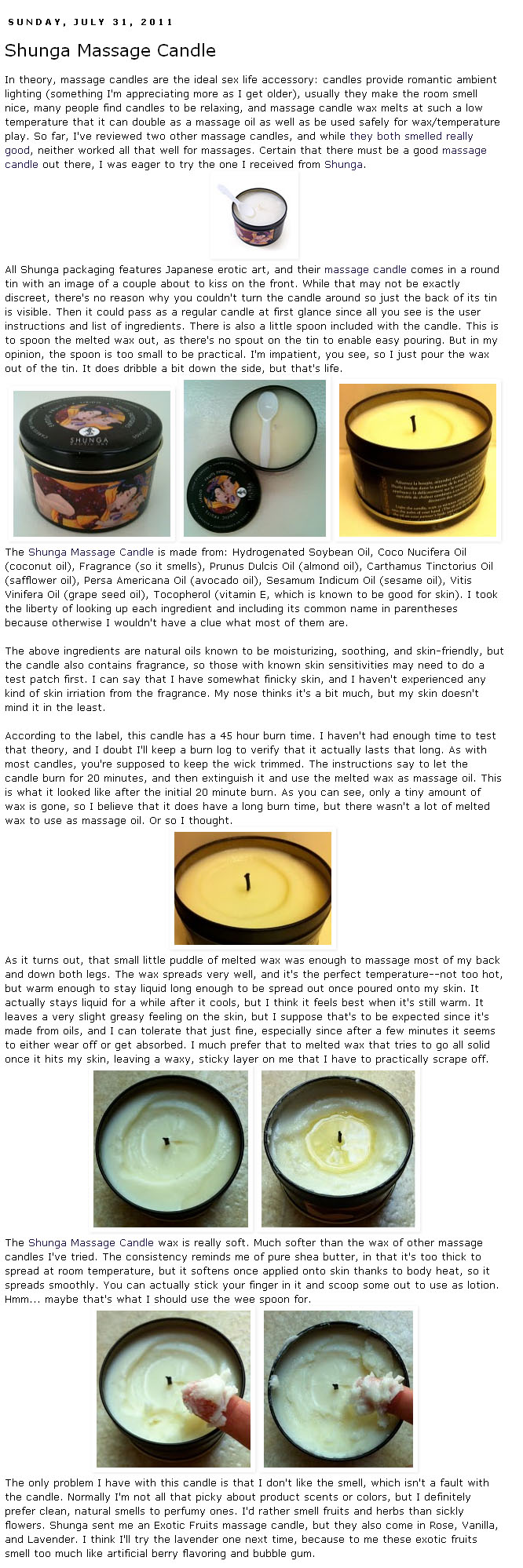 Shunga Massage Candle Review