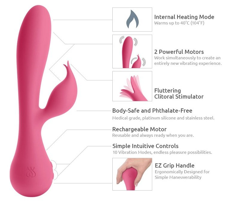 JimmyJane Glo Rabbit Heating Vibrator