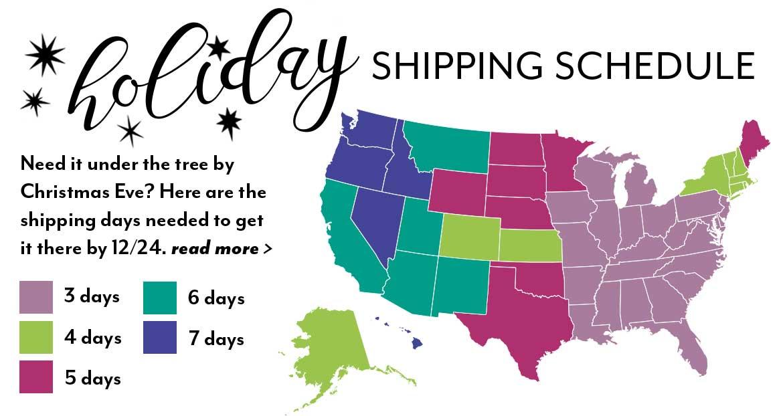 holiday shipping map