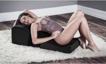 Woman lying on Flip Ramp
