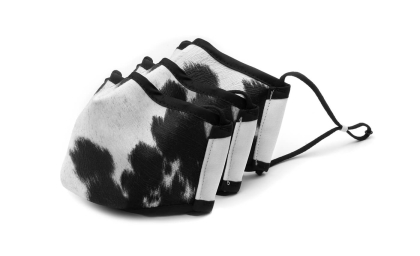 Avana Personal Protection Face Mask in Cow Print with 3-pack