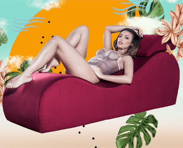 Celebrating Women | Woman lying on the Liberator Esse Chaise Sex Lounger